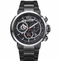 Moment watch - guy laroche GL6257-01 jam tangan pria - stainlles steel - hitam