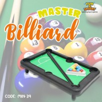 MAINAN ANAK MASTER BILLIARD MINI BOLA SODOK MIN-39