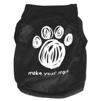 BAJU KAOS TSHIRT ANJING MODEL MAKE YOUR MARK HITAM - SIZE M