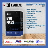 Evolene EvoMass 2 Lbs Chocolate - Evo Mass bubuk bulk bulking fitness gain gainer gym lb muscle otot
