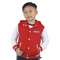 Catenzo Junior Hoodie Anak - Red White CYIx006