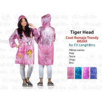 Jas Hujan COAT REMAJA TRENDY 68265 Tiger Head Mantel Teenager Rain