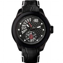 Moment watch - Guy Laroche GL6282LD-01 - jam tangan pria - leather strap - hitam