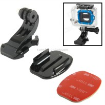 TMC Flat Mount and J-Hook Buckle with 3M Adhesive for GoPro / Xiaomi Yi / Xiaomi Yi 2 4K - HR77 - Black