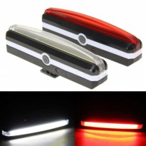 USB Rechargeable LED Bicycle Bike Cycling Front Rear Tail Light 6 Mode
