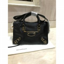 [PROMO] BALENCIAGA SMALL METALIC EDGE BLACK GHW