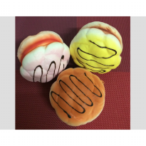 Squishy Kue Sus Jumbo Cream Puff Warna Warni DF49