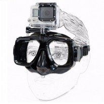 Xiaomimi Anti-Fog Diving Goggles for Action Camera - Black