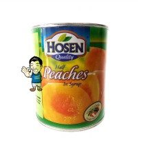 Hosen Peach in Syrup Canned / Buah Peach Kaleng- 825g