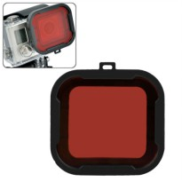Polar Pro Aqua Cube Snap-on Dive Housing Glass Filter for GoPro 4/3+ - Black/Red
