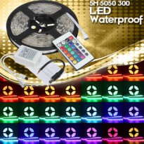LED STRIP SMD 3528 RGB (RED GREEN BLUE) 300LED PER ROLL + REMOTE