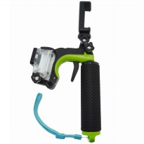 Shutter Controller with Floating Monopod + Smartphone Clamp + Waterproof Case for GoPro 4 - Green