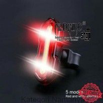 LAMPU SEPEDA LED USB CAS CHARGER TAIL LIGHT BELAKANG