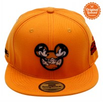 Topi Hiphop Orange Bordir Pic Face Mickey Plus Sublim