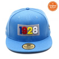Topi Hiphop Light Blue Bordir Pic Mickey