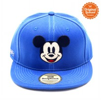 Topi Hiphop Blue Bordir Pic Face Mickey Plus Patch
