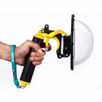 Telesin Dome Port Underwater Clear Photography 6 Inch Acrylic Base with Pistol Trigger for GoPro - Yellow