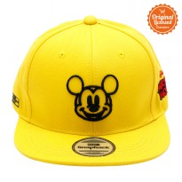 Topi Hiphop Yellow Bordir Pic Wajah Mickey