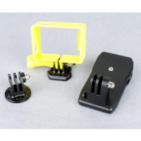 TMC Frame Mount Tripod Cradle Hat Clip Clamp Set for GoPro 3/3+/4 - EBL029 - Yellow