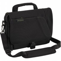 Targus Spruce EcoSmart Mini Messenger Case for Apple iPad, Samsung Galaxy Tab, Black/Green Accents (TBM022US)