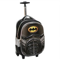 Tas Trolley SD Gagang Stainles Batman Otot 6D Timbul Soft Hard Cover