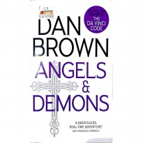 Novel Import Angels and Demon . Dan Brown pengarang the Da Vinci Code