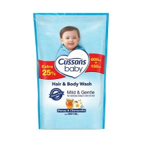 Cussons Baby Hair and Body Wash Honey & Chamomile 750 mL