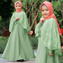 Baju Muslim Dress Anak Balotelly Mint [Anggi kids mint AK]