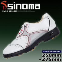 Sino Do Handmade professional golf SMG-3045 white natural leather handmade shoes microfiber polyurethane weatherproof spike window