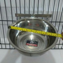 Tempat makan anjing  Single holder crome  24cm