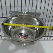 Tempat makan anjing  Single holder crome  26cm