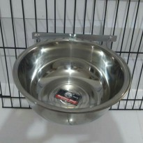 Tempat makan anjing  Single holder crome  28cm