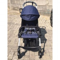 STROLLER YOYA NAVY FREE FOOTREST ORIGINAL NEW BORN 175