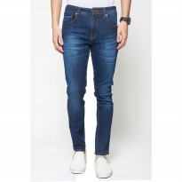 2Nd Red Jeans slim fit Pria/celana jeans slim fit/Slim Fit trendy/jeans straight-Wiskers Biru 133235