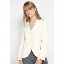Mobile Power Ladies Ivory Rose Stitch Lapel Blazzer - Ivory MR801