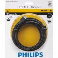 Philips HDMI cable with Ethernet 3 m High speed Ethernet - SWV2433W