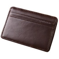 JINBAOLAI Dompet Kartu Vintage Magic Wallet - MSB003 - Dark Brown