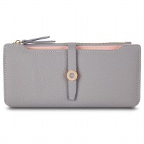 Dompet Wanita Clutch Long Wallet - Gray