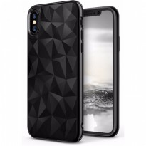 Rearth iPhone X Case Ringke Air Prism Thin TPU - Ink Black