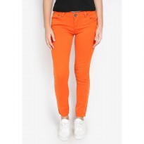 Mobile Power Ladies Basic Skinny Long Pants - Orange Z2225S
