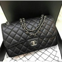 [PROMO] JUAL TAS CHANEL JUMBO CAVIAR DOUBLE FLAP BLACK MIRROR QUALITY