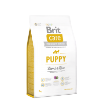 Brit Care - Puppy Lamb & Rice 3 Kg. Super Premium, Hypoallergenic Formula for Puppies & Junior Dogs