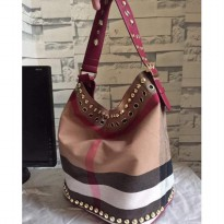 [PROMO] TAS BURBERRY HOBO CANVAS FREE POUCH