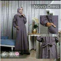Baju Muslim Maxi Wanita Supernova Abu Tua [NOVA DRESS DARK GREY NI]