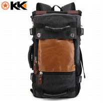 Kaka Tas Ransel Duffel Backpack Camping Travel - 0208 - Black