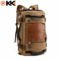 Kaka Tas Ransel Duffel Backpack Camping Travel - 0208 - Khaki