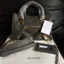 [PROMO] BALENCIAGA EDGE MINI CITY,GRIS ACIER.MIRROR QUALITY 1:1 ORI LEATHER