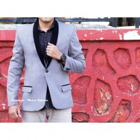 Crows Denim -  Blazer Pria Slim Fit Casual