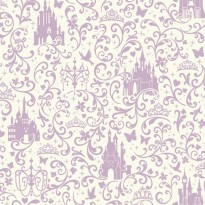 Small Scroll With Castle Purple White