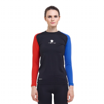 Tiento Baselayer Manset Compression Baju Olahraga Long Sleeve Black Blue Red Original